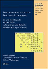 """Buchcover von """"Lexikografische Innovation"""